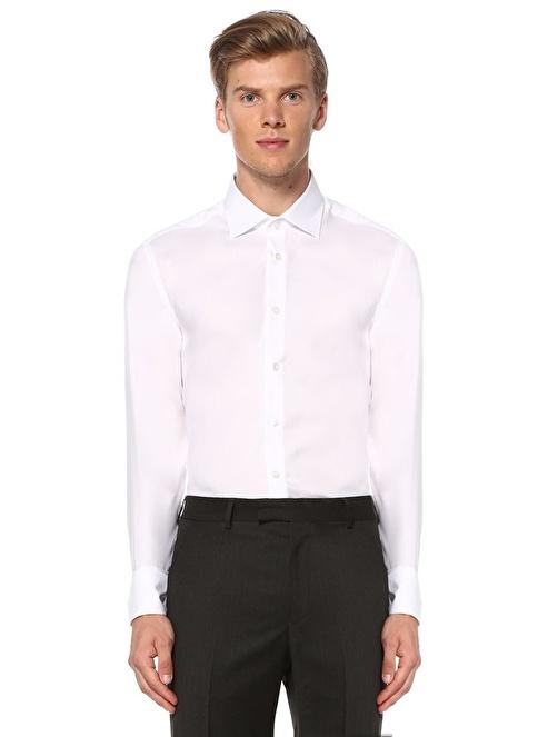 Beymen Club Slim Fit Gömlek Beyaz